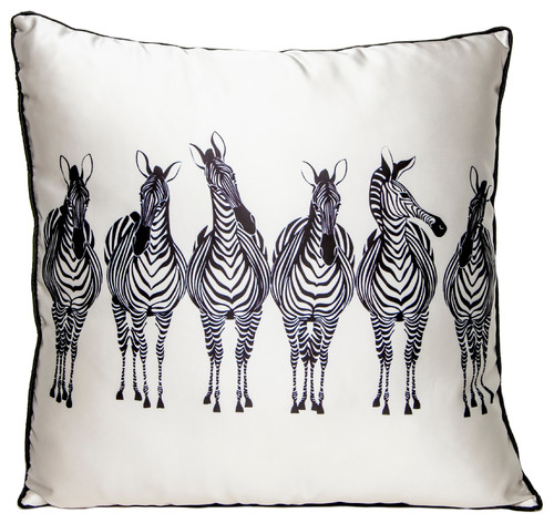 Zebra Squad Throw Pillow