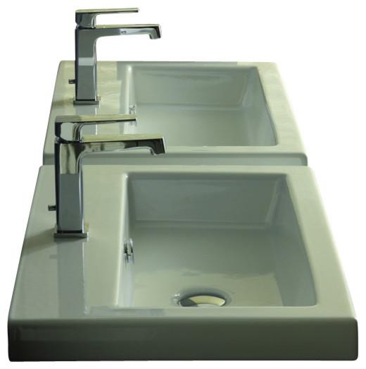 ... Wall Mounted or Vessel Bathroom Sink - Contemporary - Bathroom Sinks