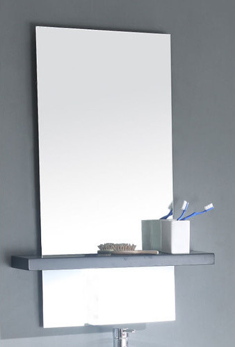 "18 5"" Vanity Mirror in Espresso Modern Bathroom Mirrors"
