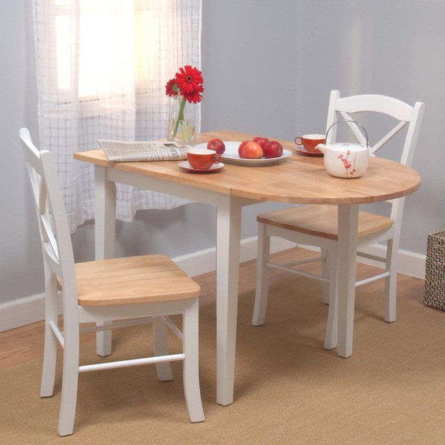 target marketing systems tiffany 3 piece dining table set 16309wht