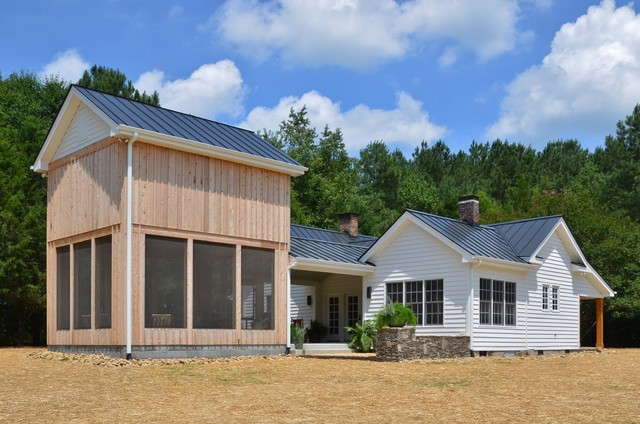 Country House With A Modern Kitchen And Tobacco Barn