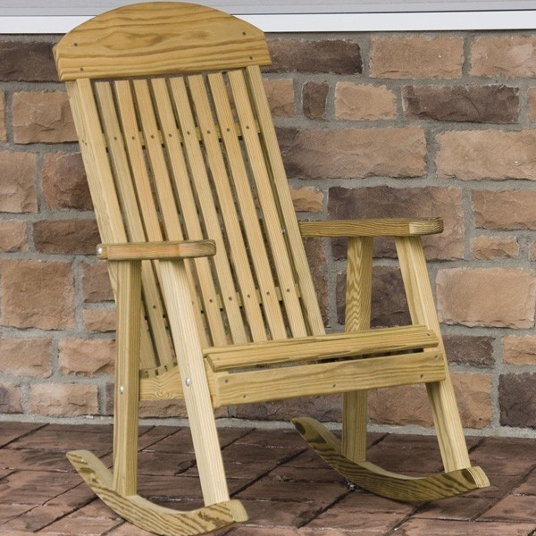 Classic Treated Porch Rocker Traditional Patio Furniture And Outdoor Furniture Boston By