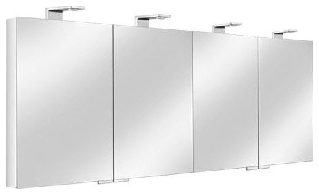 Keuco | Royal Universe Quad Mirrored Cabinet - Modern - Medicine Cabinets - by YBath