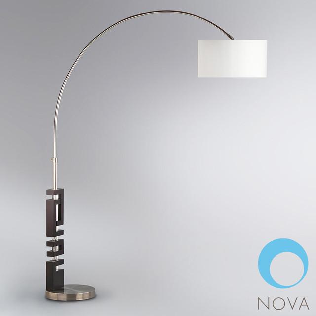 nova troy arc floor lamp modern floor lamps los. Black Bedroom Furniture Sets. Home Design Ideas