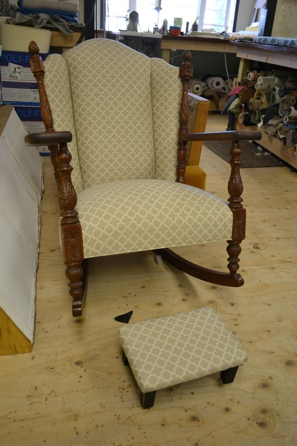 Furniture Reupholstery Traditional Rocking Chairs