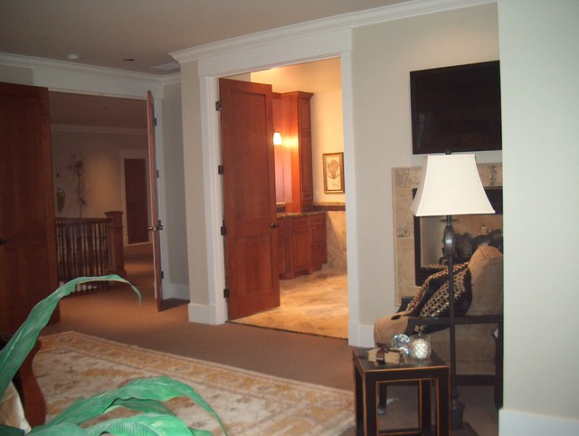 Master Bedroom View Of Double Doors
