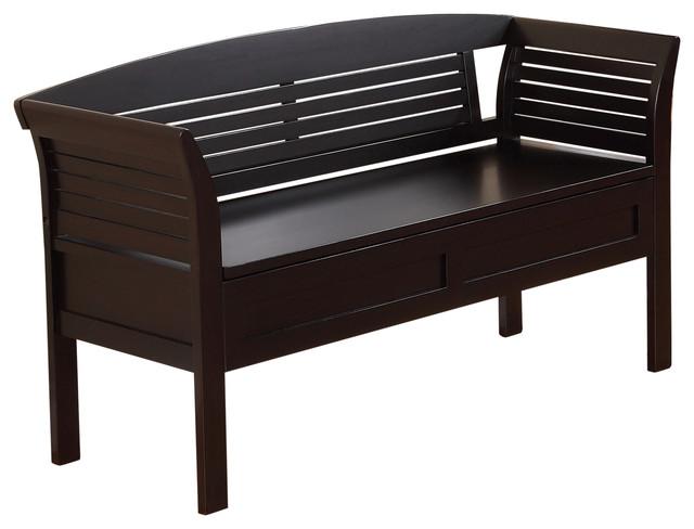 arlington 49 inch wide entryway bench in dark espresso