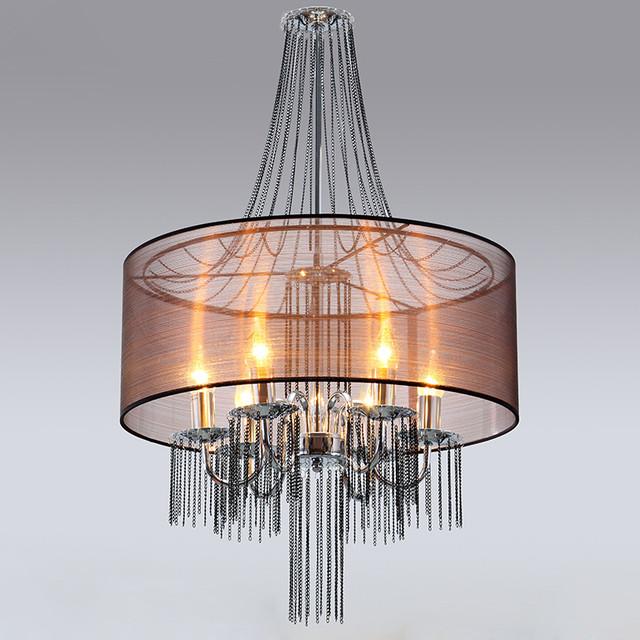 Candelabra Chandelier with Semi Transparent Shade Modern