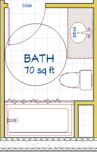 Wheelchair Accessible Bathroom Layout