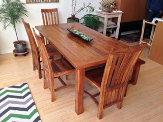Reclaimed Teak Dining Table Chairs And Bench Asian
