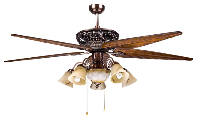 large tropical 5 blade ceiling fan light for dining room modern ceiling fans. Black Bedroom Furniture Sets. Home Design Ideas