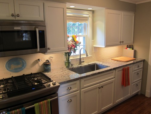 Our updated galley kitchen.