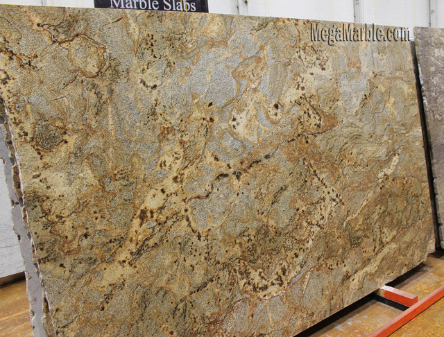 Crystalline Stone Slabs : Golden crystal granite slab brazil contemporary