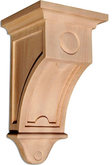 Mission large corbel cherry craftsman corbels by for Large exterior corbels