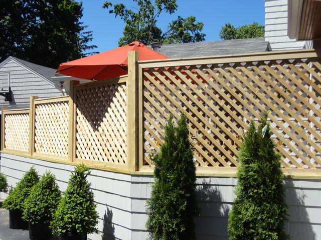 Cedar lattice screens and enclosures other metro by for Garden enclosures screens fences