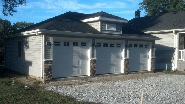 Custom Porch And Garage