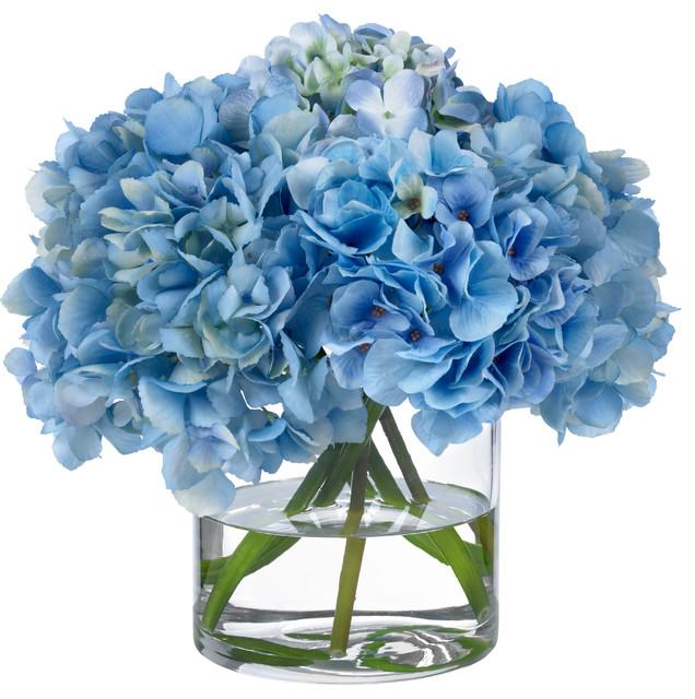 Diane james heavenly blue hydrangeas transitional