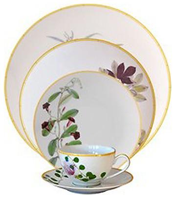 bernardaud jardin indien 5 pice place setting exotique service de vaisselle par fine brand. Black Bedroom Furniture Sets. Home Design Ideas