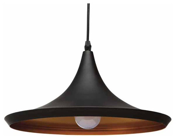 Euclid Single Bulb Pendant Light By Nuevo