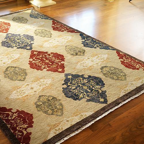 Traditional Area Rugs: Tibetan Argyle Silk/Wool Area Rug