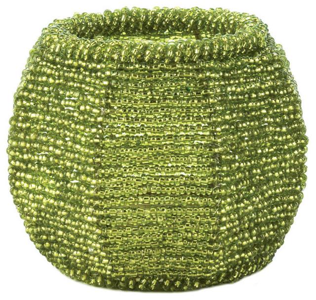 Koehler Home Decor Lime Green Beaded Candleholder