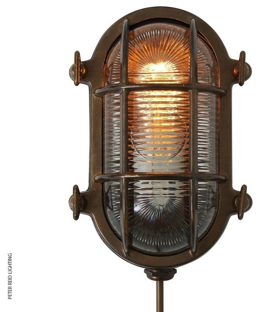 Small Industrial Wall Lights : RUBEN SMALL OVAL MARINE BULKHEAD LIGHT - Industrial - Outdoor Wall Lights - south east - by ...