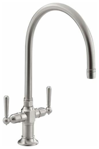 Kohler K 7341 4 Hirise Double Handle Kitchen Faucet Traditional Kitchen Mixers By Buildcom