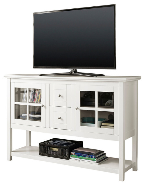 """52"""" Wood Console Table TV Stand - Entertainment Centers And Tv Stands - by Walker Edison"""