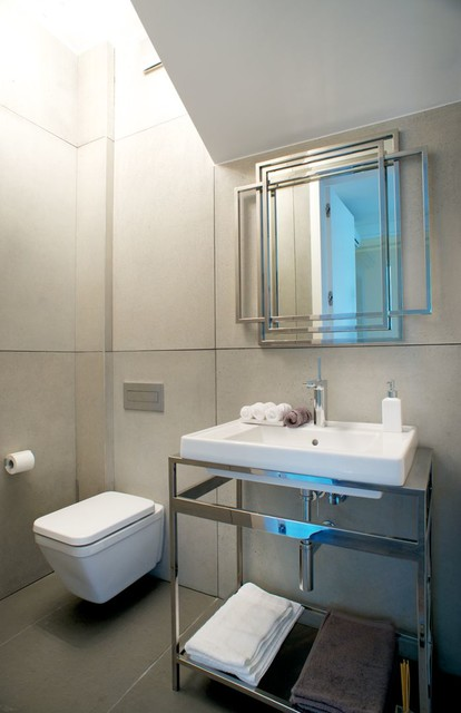 House near warsaw contemporary bathroom other by for Bathroom designers near me