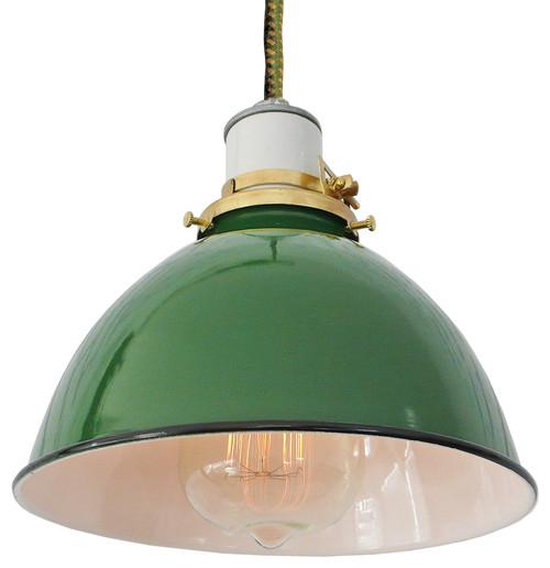 The Greene Lamp, Green and Yellow Cord, Pendant