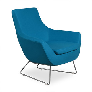 Becca Lounge Turquoise Fabric Modern Dining Chairs By Inmod