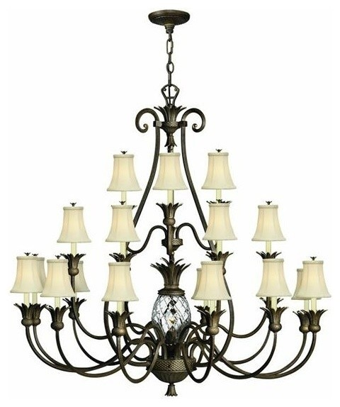 Hinkley Lighting 4889Pz Chandeliers Plantation Traditional Chandeliers