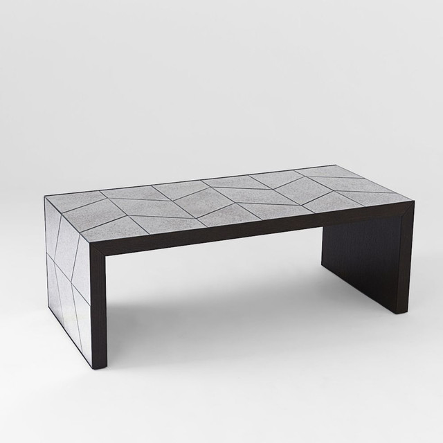 Herringbone Mirror Coffee Table Contemporary Coffee Tables By
