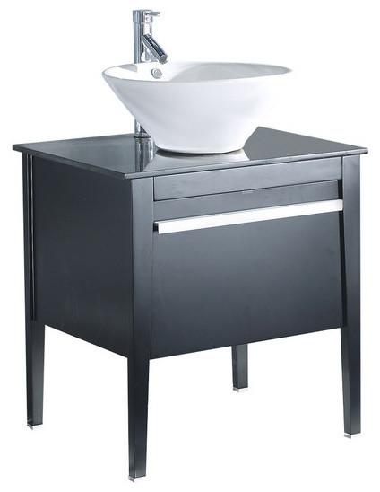 Wyatt Solid Wood Sink Chest 26 Modern Bathroom Vanity Units Sink Cabinets By Legion
