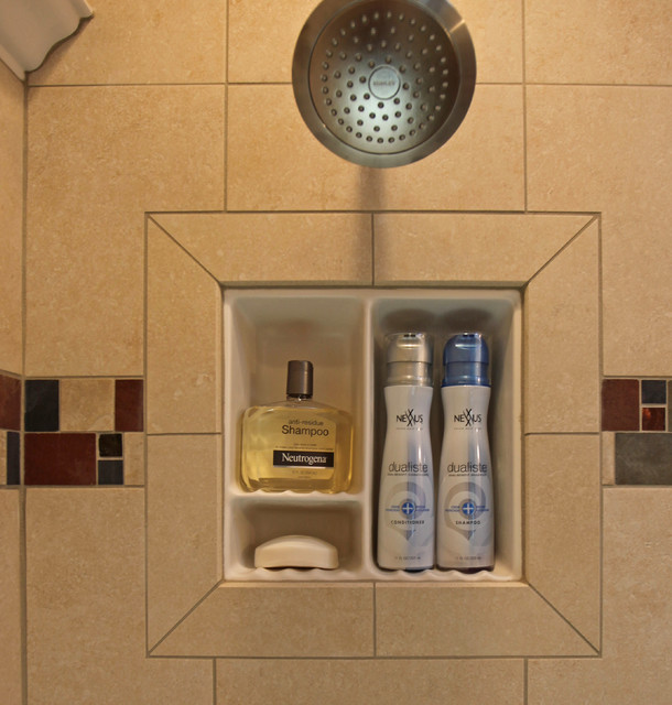Recessed Bathroom Tile Niches Traditional Bathroom