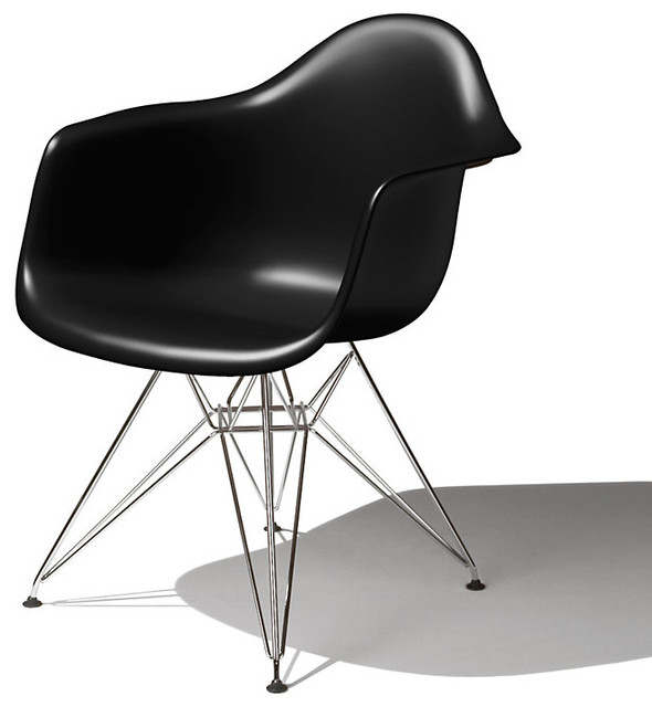 eames molded plastic arm chair modern armchairs and accent chairs