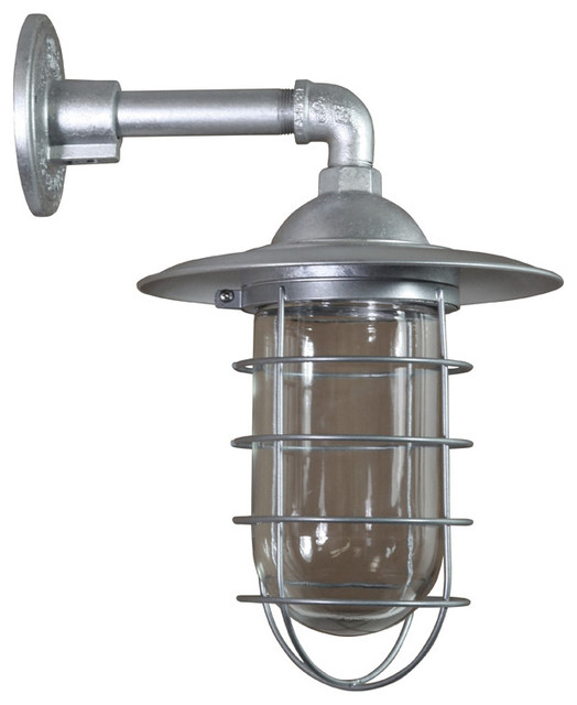 Wall Sconces Industrial : Wall Sconce, Galvanized - Industrial - Wall Sconces - by ANP Lighting