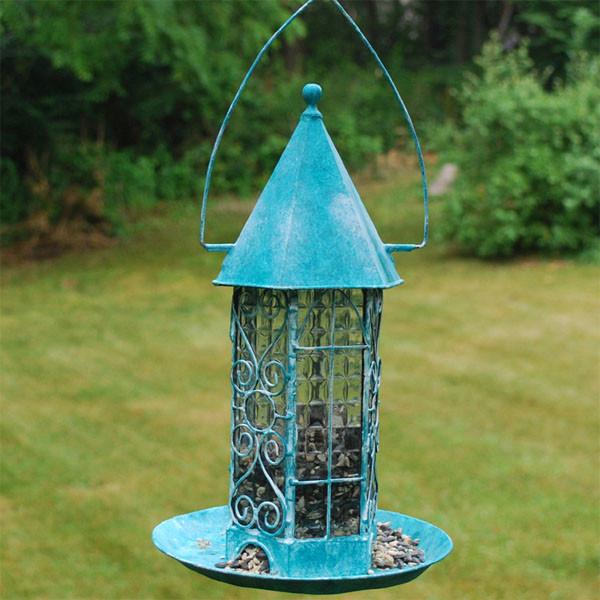 campanile estate bird feeder eclectic bird feeders atlanta by iron accents. Black Bedroom Furniture Sets. Home Design Ideas