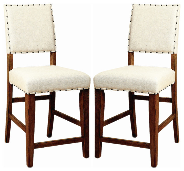 Counter Height Nailhead Chairs : ... Counter Height Dining Chairs Nailhead Trim,Set of 2 - Dining Chairs