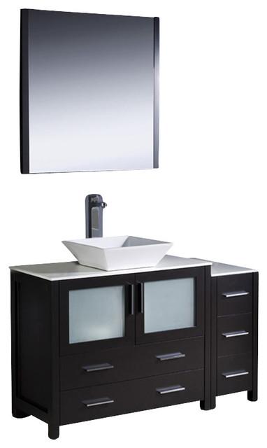 Fresca torino 48 modern bathroom vanity w one side for Decorplanet bathroom vanities