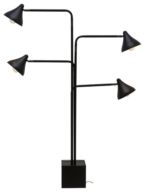 acorn 4 black floor lamp modern floor lamps los angeles by. Black Bedroom Furniture Sets. Home Design Ideas