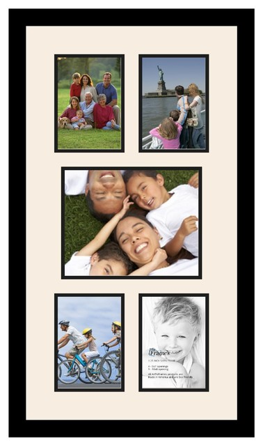 Arttoframes collage photo frame with 1 8x10 and 4 5x7 for Modern collage frame