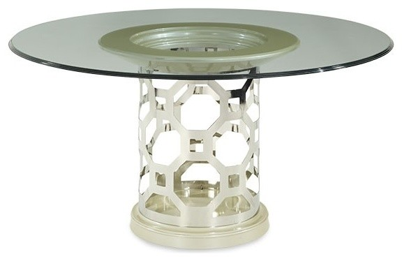 piece 60 round glass top dining table set 19001 dining tables