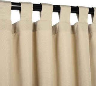 Minimalist Outdoor Contemporary Curtains Sunbrella Outdoor Curtain With Tab Top Antique Beige Contemporary Curta