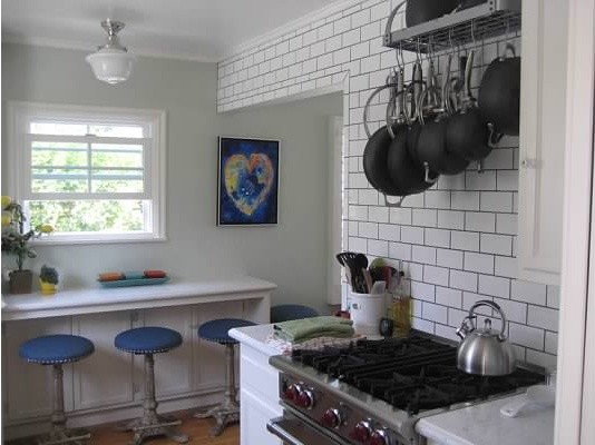 Small Cottage Kitchen Remodel Traditional Pendant