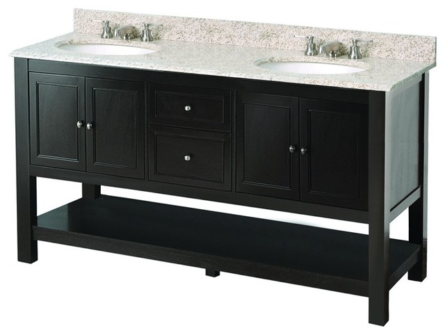 "Foremost GAEA6022D Gazette 60"" Double Vanity Cabinet Only"