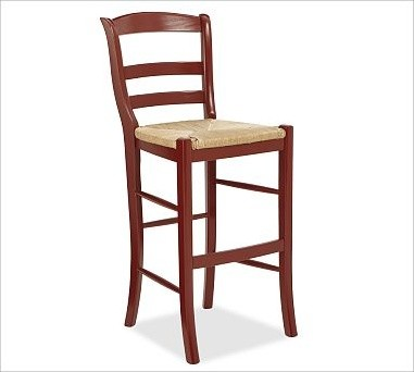 Isabella Barstool Tall Cardinal Red Traditional Bar