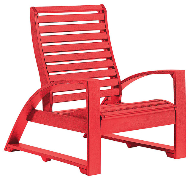 St Tropez Lounger Chair Red Contemporary Outdoor Lounge Chairs By Smar