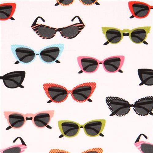 white sunglasses shades glasses fabric