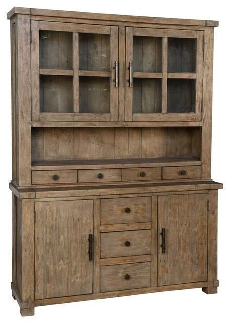 Caleb Hutch Cabinet Desert Transitional China Cabinets And Hutches